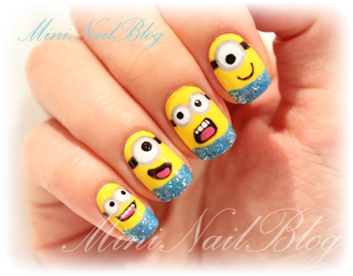 minions nail art desig...