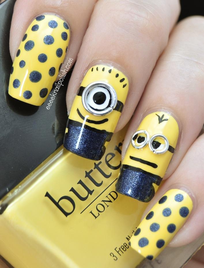 - 20 Most Adorable Despicable Me Minions Nail Art Designs